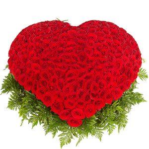 ruže u obliku srca
